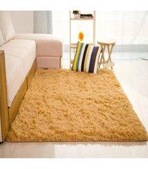 11 colores 80*120cm  salón suelo yoga mats alfombras sala casa cuarto de dormir(marrón claro)