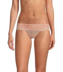 la perla women's lace g-string briefs - pink - size l