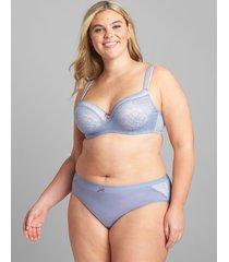 lane bryant women's modern lace lightly lined balconette bra 46c country blue