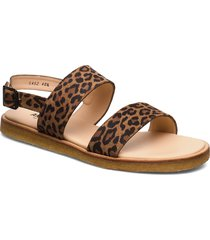 5452 shoes summer shoes flat sandals brun angulus