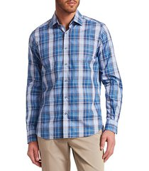 collection plaid woven cotton button-down shirt
