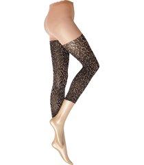decoy capri leopard 70 den lingerie pantyhose & leggings svart decoy