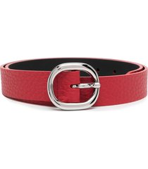 orciani soft leather belt - red