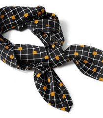 mens multi grid print bandana*