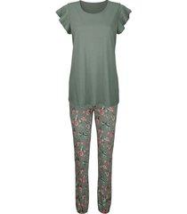 pyjama simone olijf/koraal/ecru