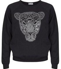 bluza z tygrysem bez kołnierzyka