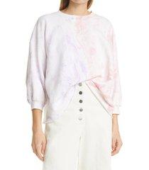 women's rachel comey fond swirl print sweatshirt, size medium/large - purple