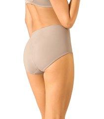 panty clásico de control suave con toques de encaje en abdomen