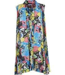 balenciaga printed sleeveless dress