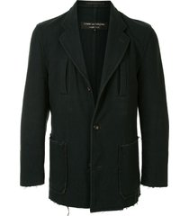 comme des garçons pre-owned frayed pockets wool jacket - green