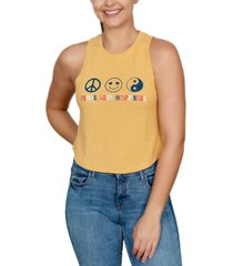 rebellious one trendy plus size peace love happiness-graphic tank top