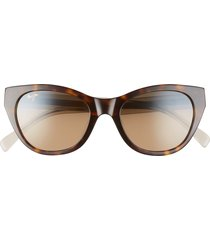 women's maui jim capri 51mm polarizedplus2 cat eye sunglasses - tortoise/ transparent tan