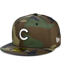 new era chicago cubs woodland basic 59fifty cap