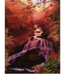 "david lloyd glover waterfall sunrise canvas art - 20"" x 25"""