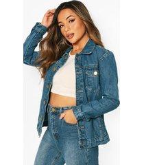 oversize jean jacket, mid blue