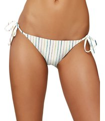 o'neill juniors' bridget stripe side-tie cheeky bikini bottoms women's swimsuit