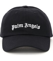 palm angels baseball cap with logo embroidery