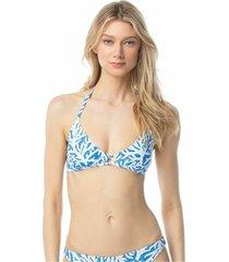 bikini top coral mosaic triangle