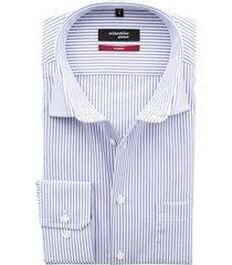 overhemd seidensticker wit blauw streep strijkvrij
