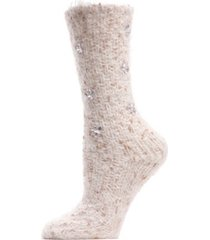 floral gems women's cozy crew slipper socks