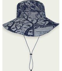 scotch & soda jacquard artwork bucket hat