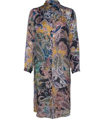 3403 - asia dress knälång klänning multi/mönstrad sand