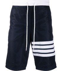 thom browne mesh track shorts - blue