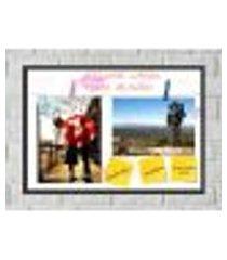 quadro porta foto e recadinho com varal 23x33cm melhor casal 2 preto