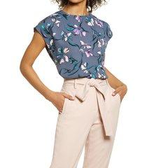 women's halogen cap sleeve blouse, size x-large - grey