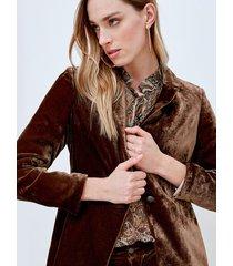motivi giacca blazer in velluto donna marrone