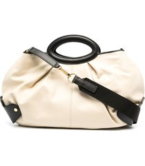 marni two-tone slouchy tote bag - neutrals