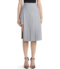 layered kilt knee-length skirt