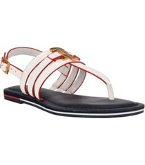 tommy hilfiger women's sherlie strappy thong sandals women's shoes