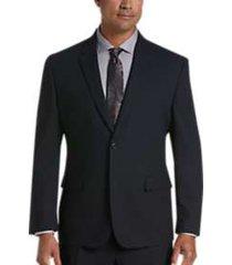 pronto uomo navy modern fit suit