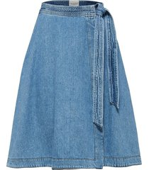 denim rok high waist wikkel