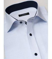 eterna heren overhemd hemelsblauw oxford contrast classic kent ml6 comfort fit
