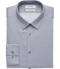 calvin klein infinite non-iron gunmetal slim fit dress shirt