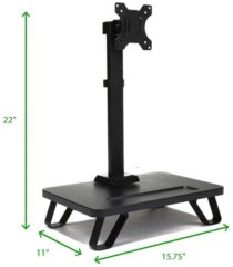 mind reader single lcd monitor desk mount stand