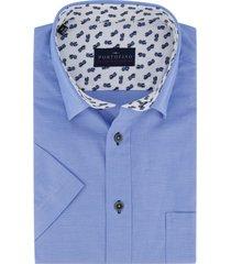 korte mouwen overhemd portofino blauw
