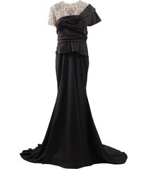 crystal illusion jersey gown