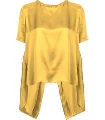 silk t-shirt yellow