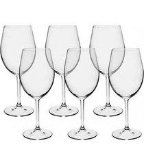 conjunto de 6 taças para vinho bohemia anna 580ml full fit