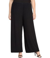 alex evenings plus size straight-leg pants