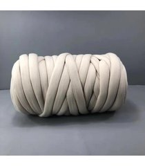 500g chunky hilado diy hace punto de punto manta suave línea gruesa de algodón banda de ganchillo - blanquecino