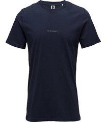 ethan print tee 3234 t-shirts short-sleeved blå nn07