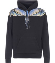 marcelo burlon wings cotton hoodie