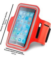 braçadeira esportiva para smartphone 5  vermelho