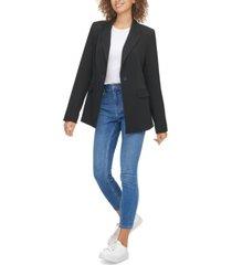 calvin klein jeans one-button blazer