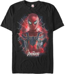 marvel men's avengers infinity war painted spider-man short sleeve t-shirt