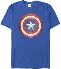 fifth sun men's shiny shield short sleeve crew t-shirt